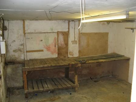 Picture showing cellar basement before it was converted by Guardian