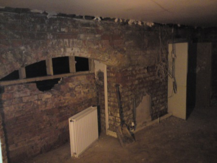 Picture showing basement cellar after waterproofing by Guardian